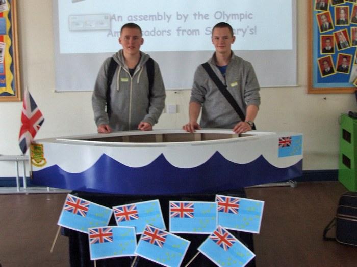 Carpentry & Joinery students: Dominic Glenn and Joshua Charlsworth.