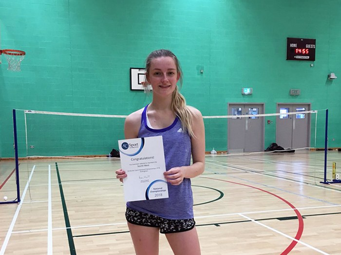 Student is a hit in badminton championships