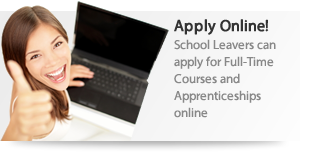 Apply online for 16-18 School Leaver Courses and Apprenticeships
