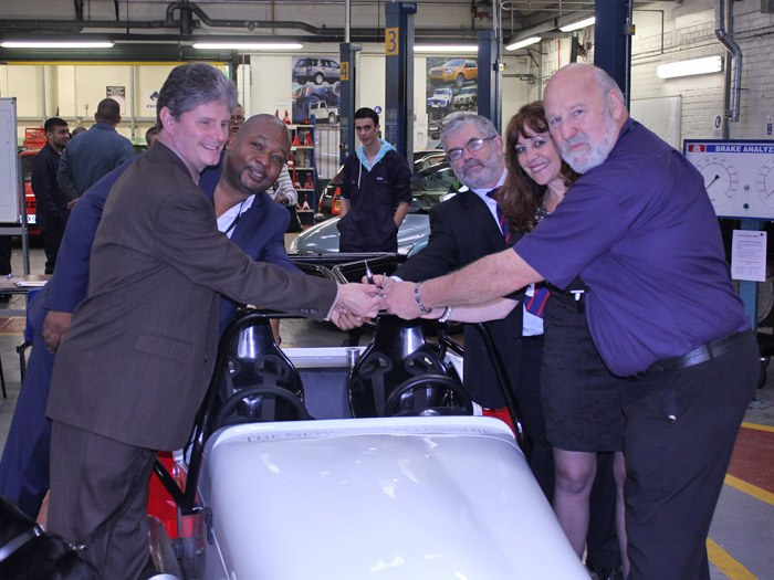 Tameside College officially hands over the first modified Motorsport Race Car.