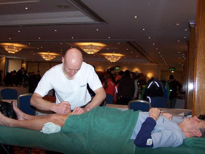A pre-marathon massage