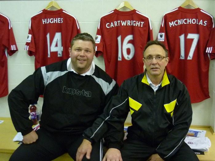 Sports massage students Lee Hewitt and Brian Parkinson-Silk.