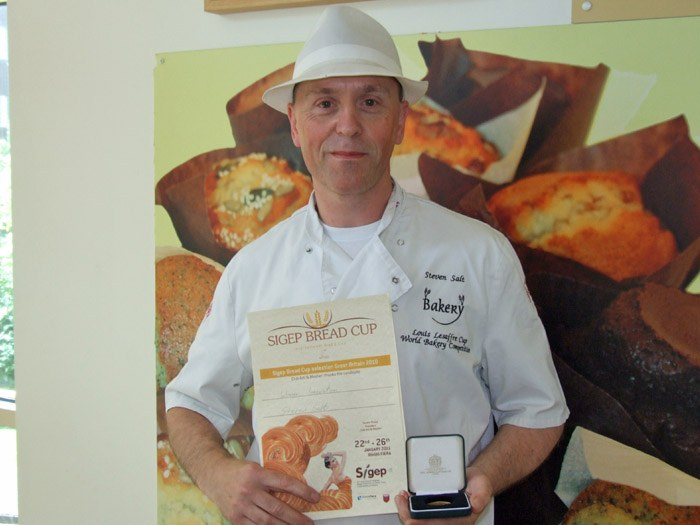 Steven Salt won first prize in the Sigep Bread Cup International Award