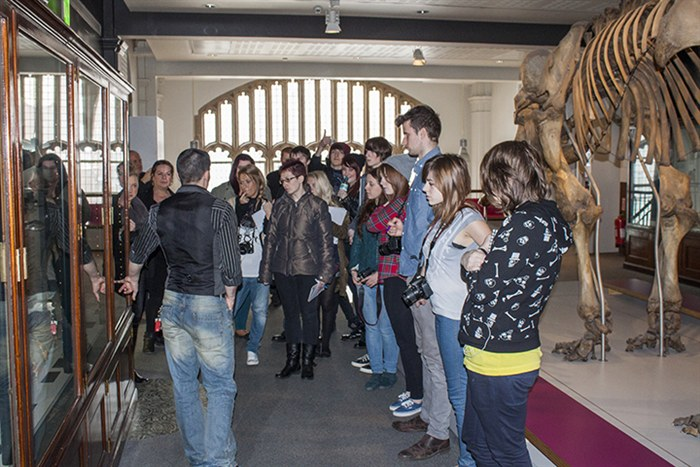 Students visit Manchester Museum