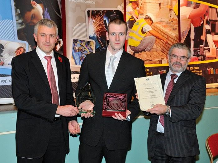 Ryan Campbell receiving his award