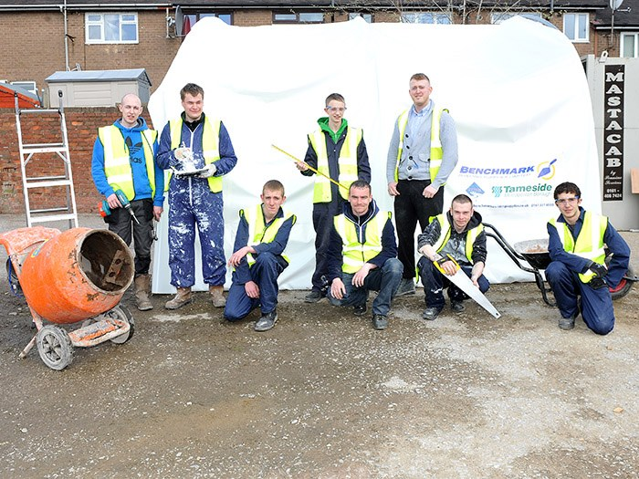 Tameside College Construction Students get to Work on Construction Project.