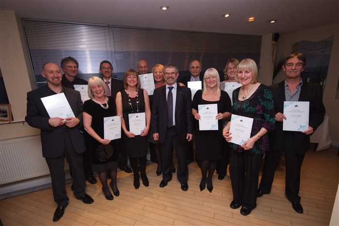 Staff receive recognition for their 20 years of service