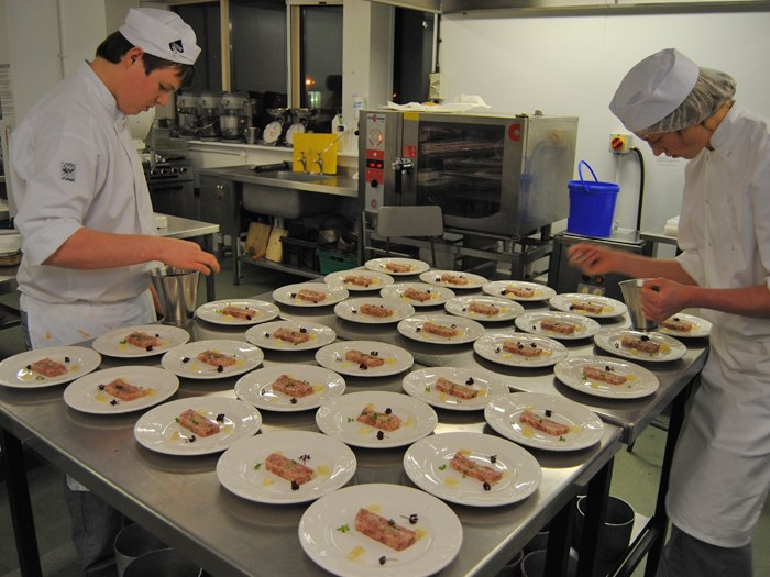 Students plating up