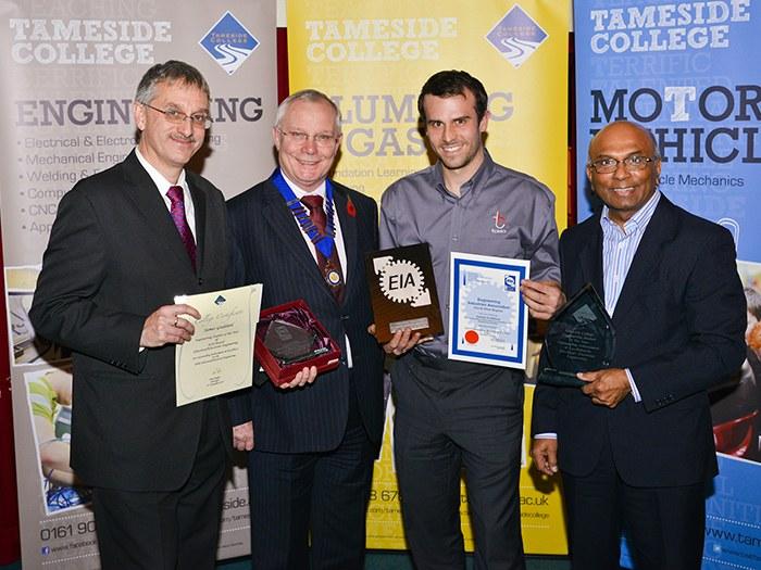 James Goddard receiving award.