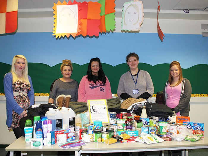 Students support urban harvest appeal.