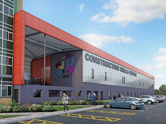 Artist impression of construction skills centre