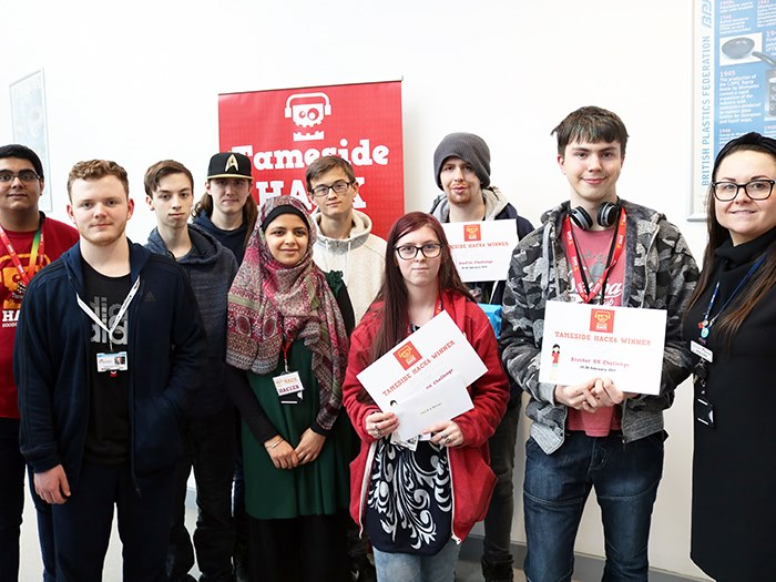 Students who took part in the hack