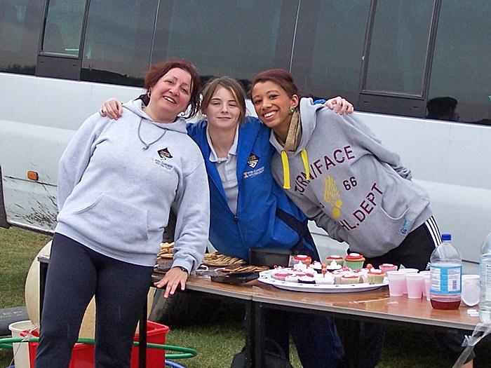 Maria Cacia and Sport students at the Boating Lake