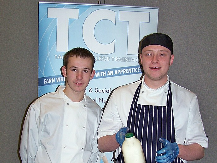 Nathan Higgins and Connor Lea at the Skills North West Exhibition
