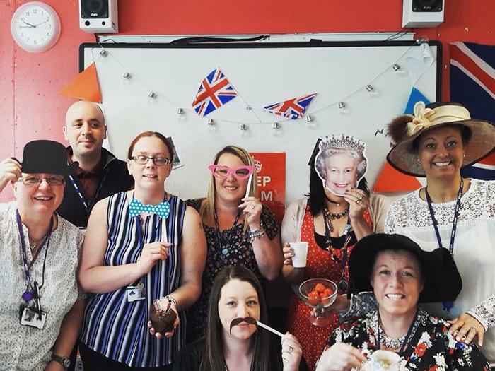 Students' tea party is a 'royal' success