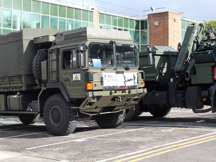 Territorial Army trucks
