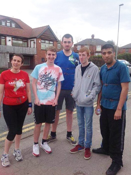 Students and staff completed a 3 mile run