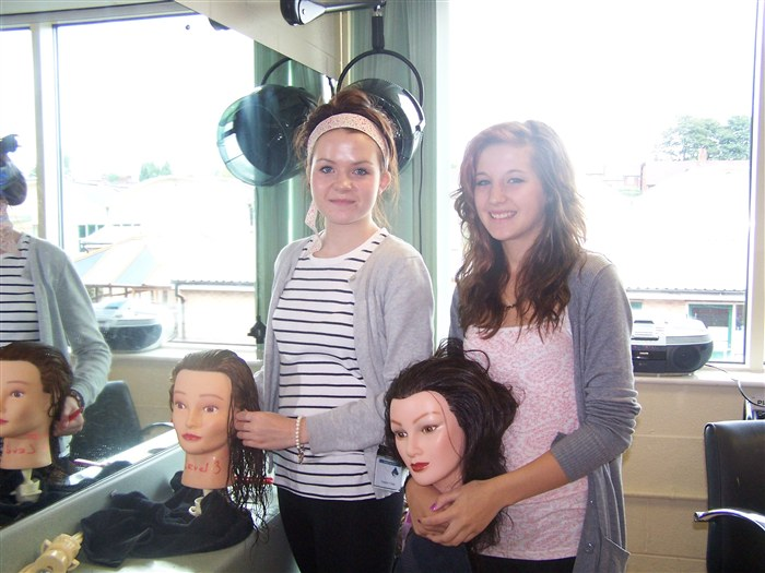 Year 9 pupils in the Hair & Beauty Salon