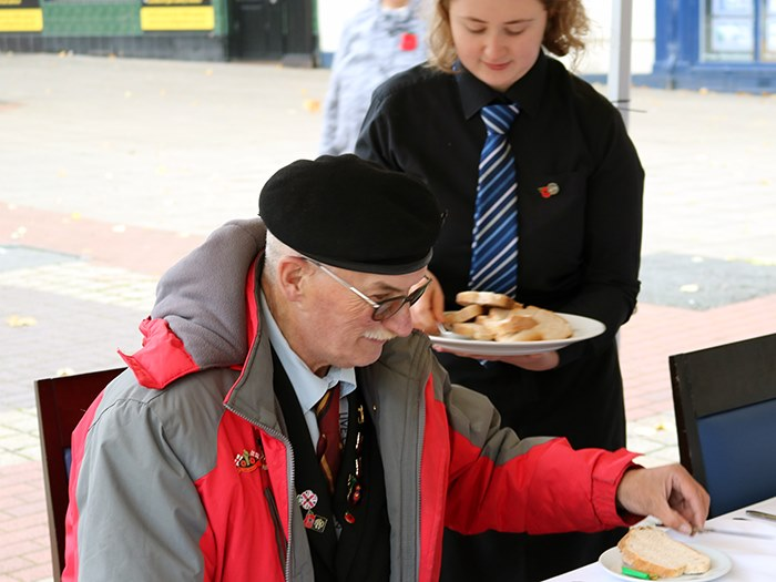 Veterans also came to enjoy the meal